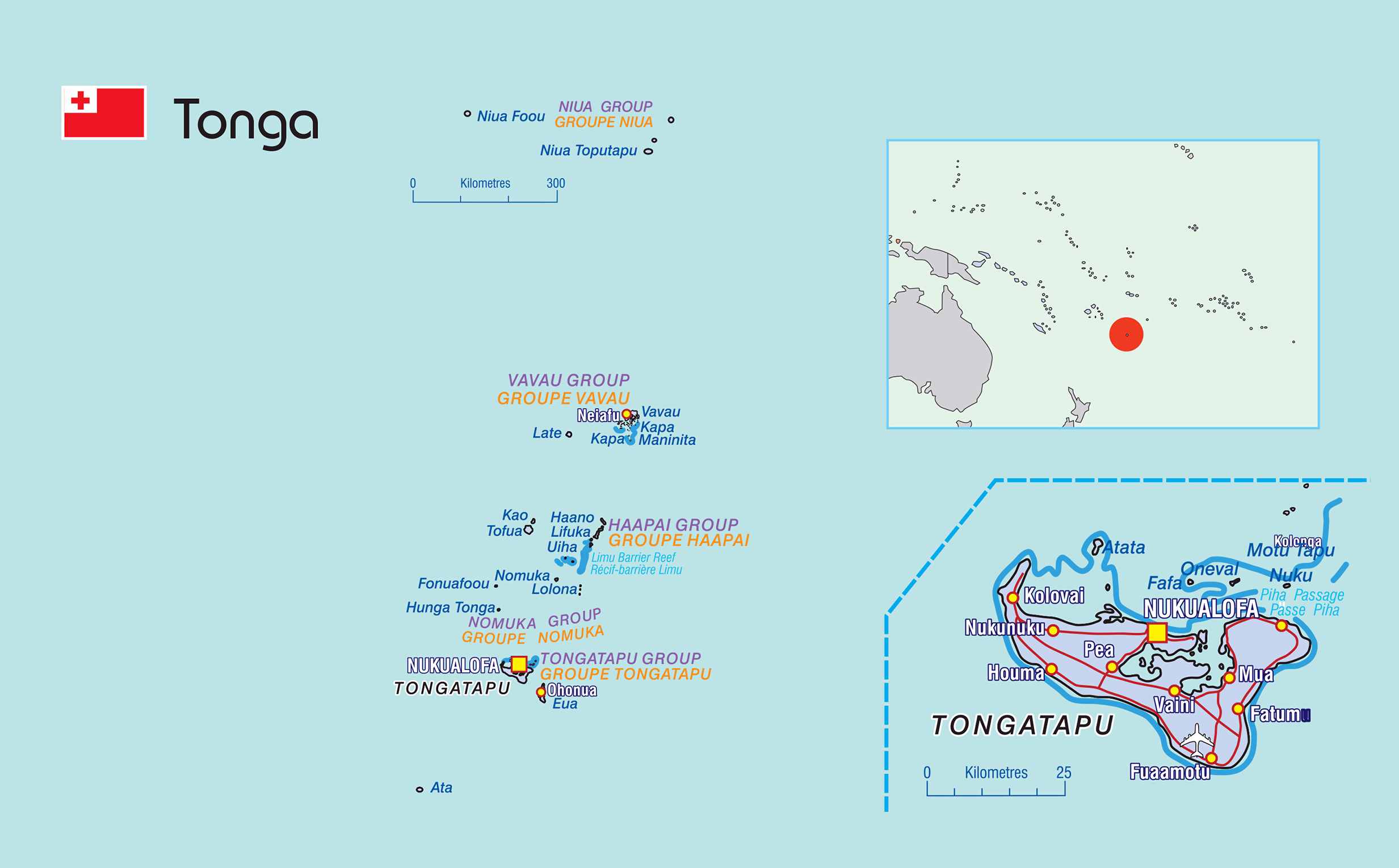 Image of: Large Political Map Of Tonga With Cities Tonga Oceania Mapsland Maps Of The World