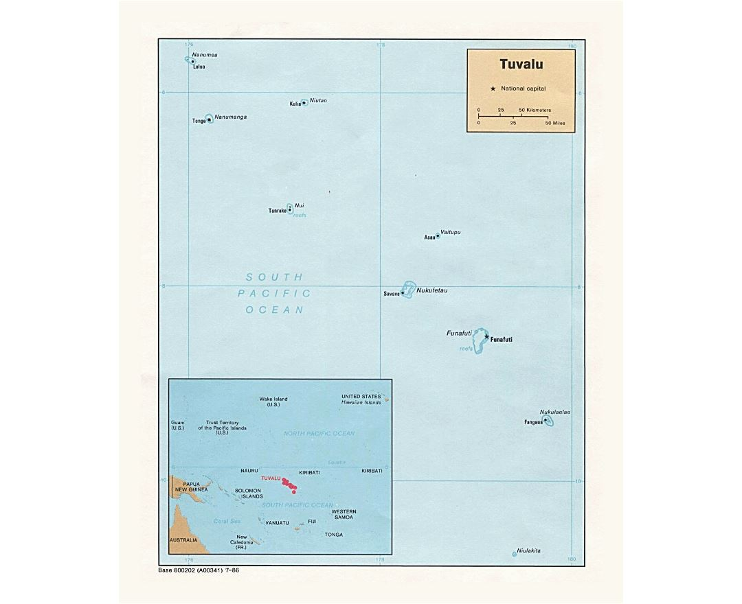 Maps of Tuvalu Detailed map of Tuvalu in English Tourist map