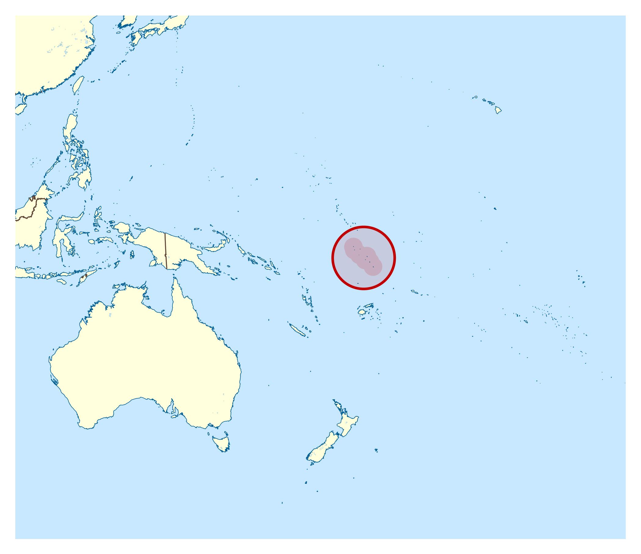 Large location map of Tuvalu Tuvalu Oceania Mapsland Maps of