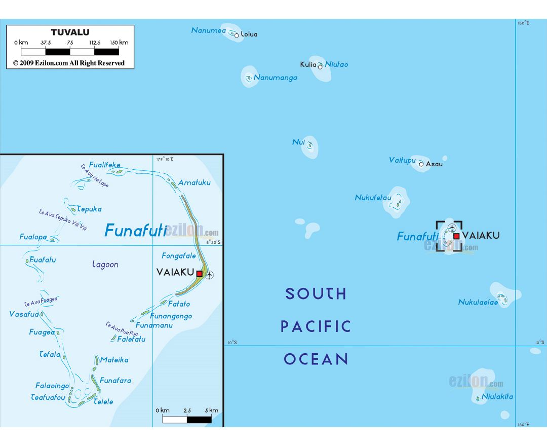 Maps of tuvalu detailed map of tuvalu in english tourist map large physical map of tuvalu with cities and airport publicscrutiny Image collections