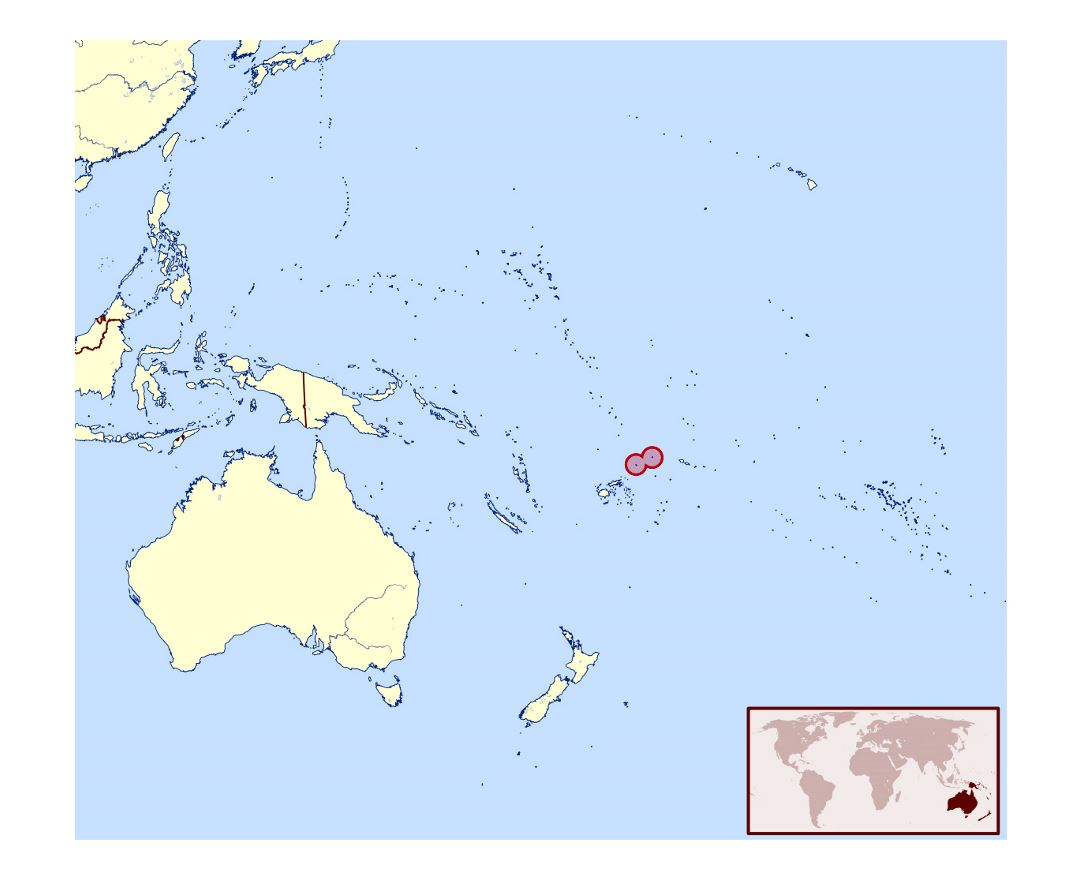 Detailed location map of Wallis and Futuna