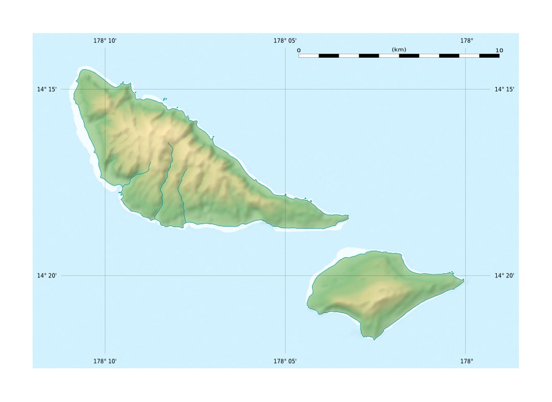Detailed relief location map of Futuna