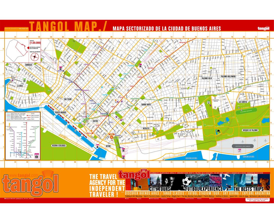 Maps Of Buenos Aires Detailed Map Of Buenos Aires In English - Argentina travel map