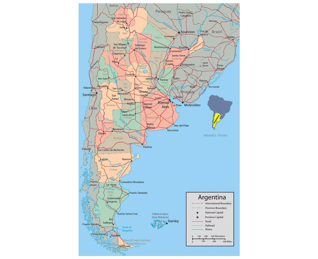 Maps Of Argentina Detailed Map Of Argentina In English Tourist - Argentina map cities