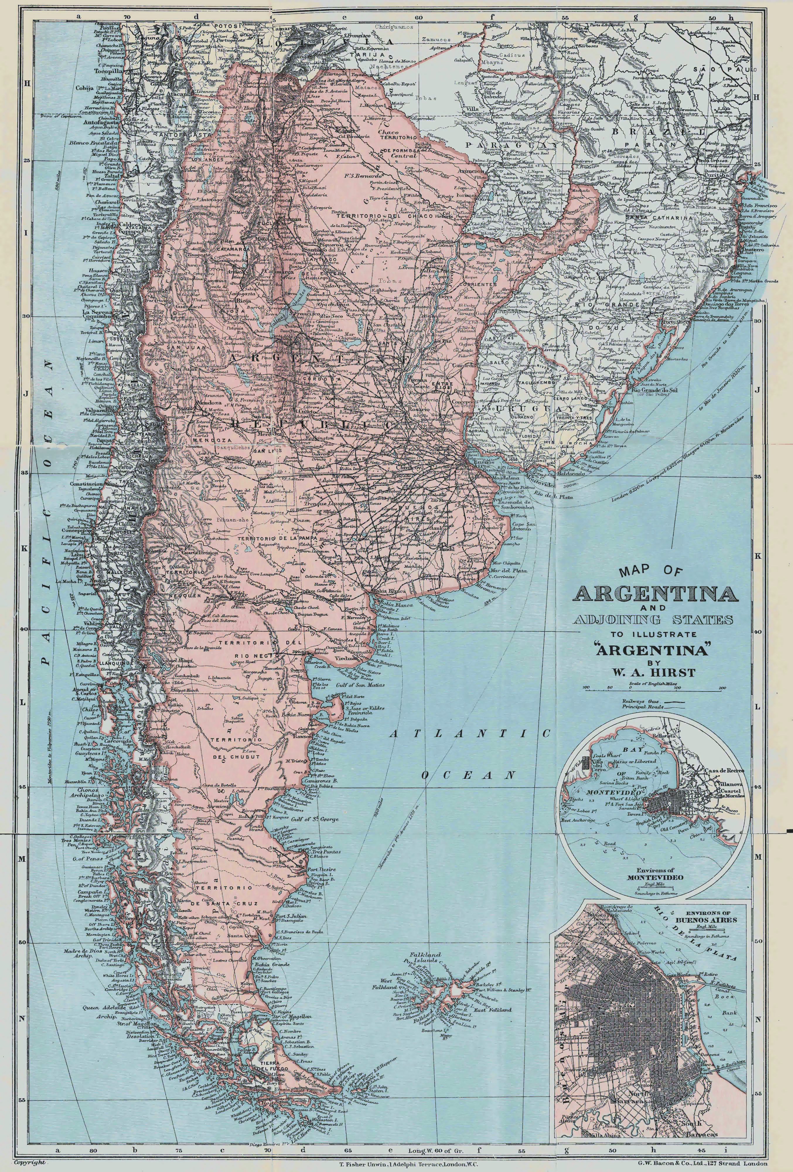 Large Detailed Old Map Of Argentina Argentina South - Argentina map detailed