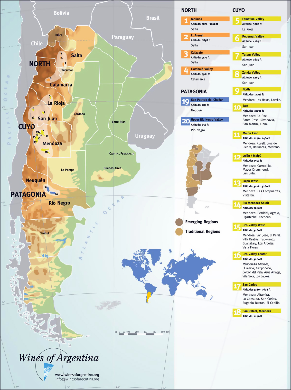 Large Detailed Wine Regions Map Of Argentina Argentina South - Argentina map detailed