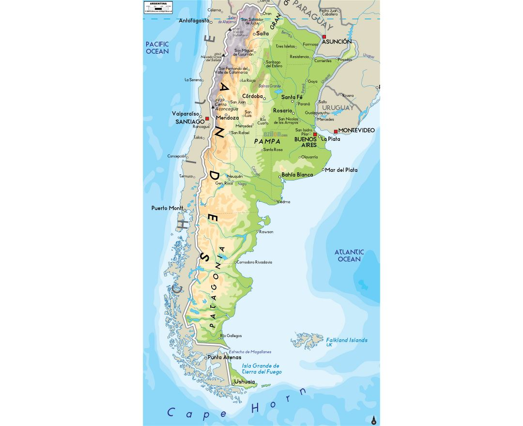 Maps Of Argentina Detailed Map Of Argentina In English Tourist - Argentina map cordoba