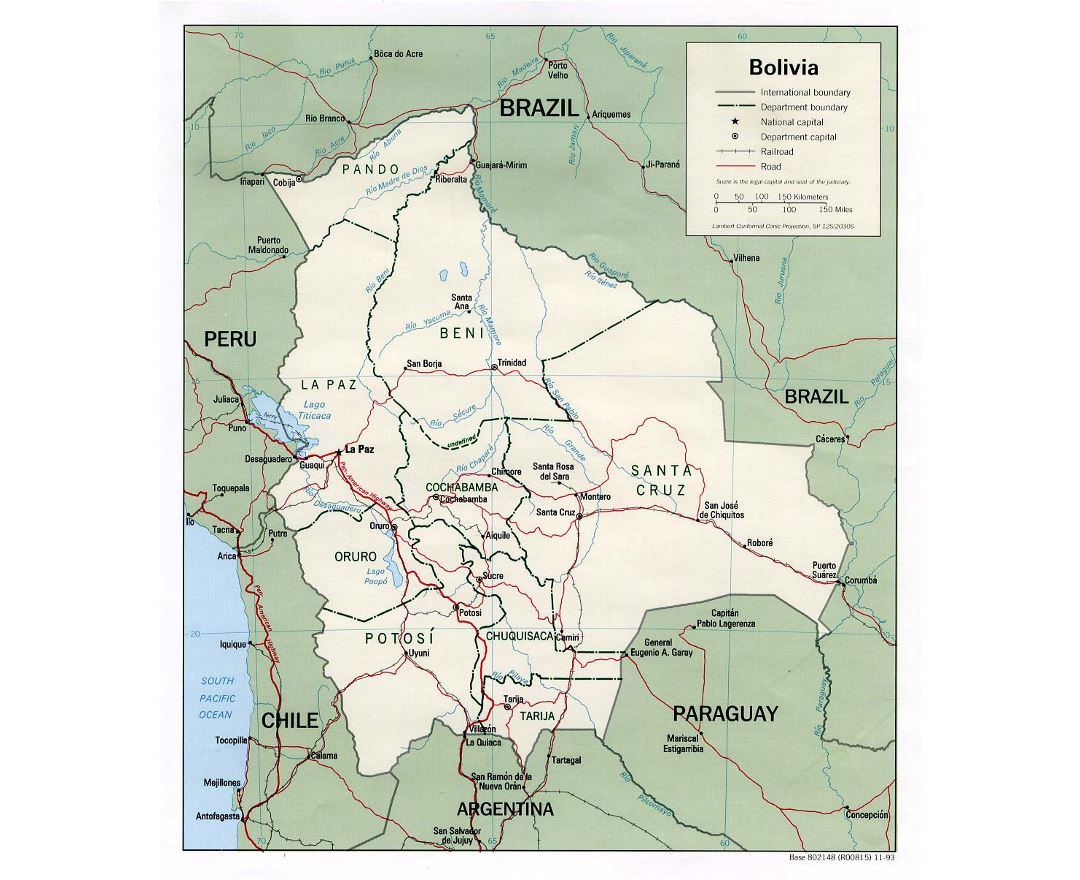 Maps Of Bolivia Detailed Map Of Bolivia In English Tourist Map - Bolivia cities map