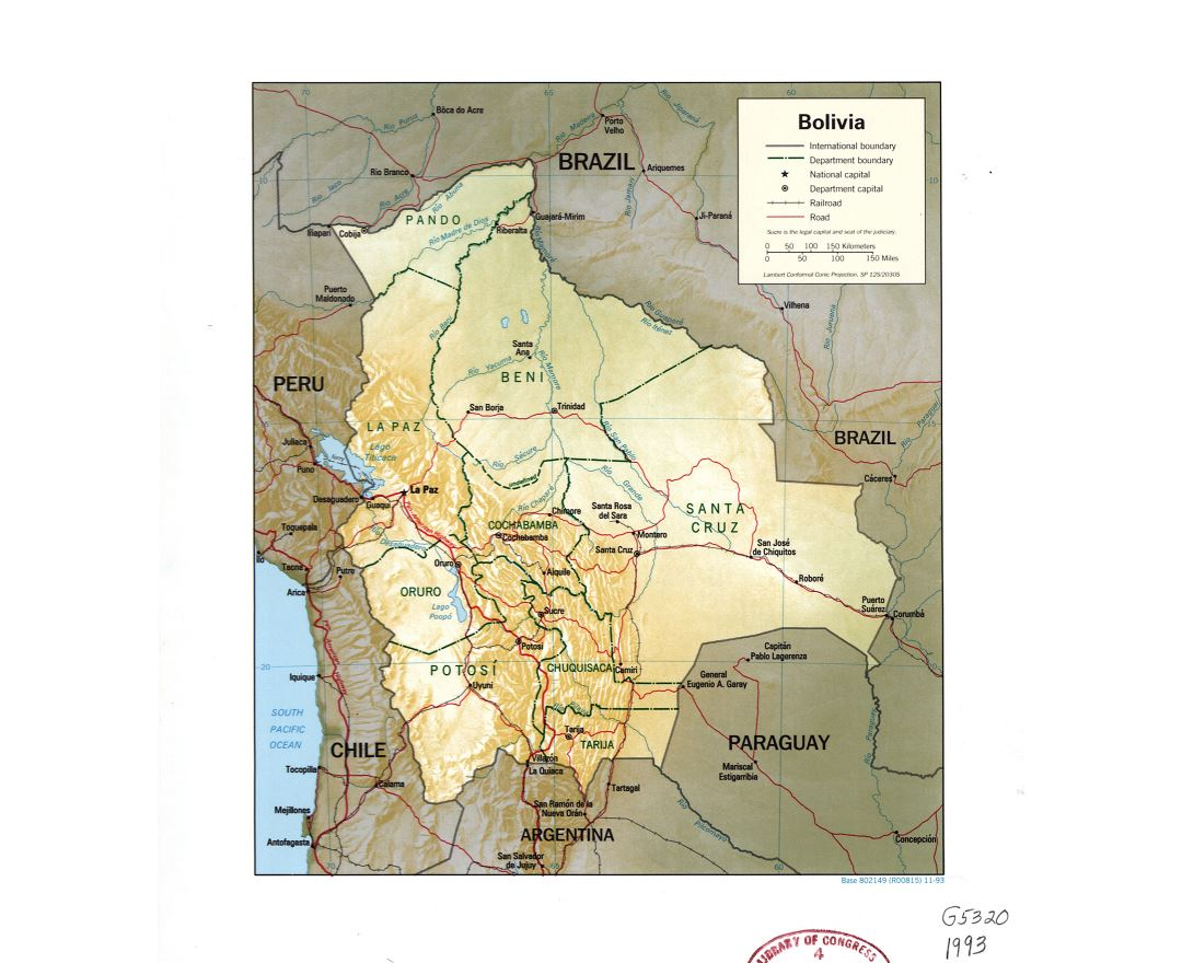 Maps of Bolivia | Collection of maps of Bolivia | South America ...