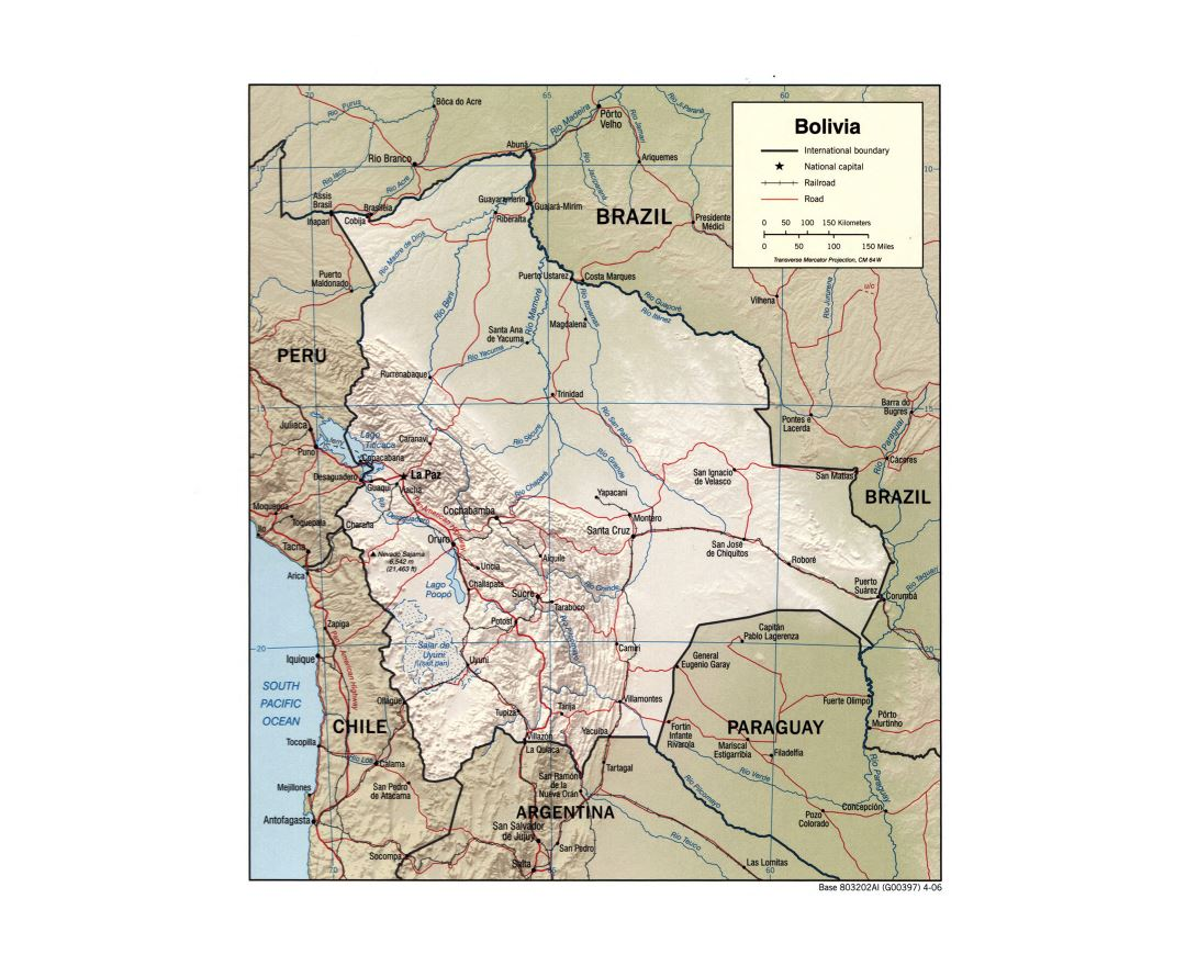 Maps of Bolivia | Collection of maps of Bolivia | South ...