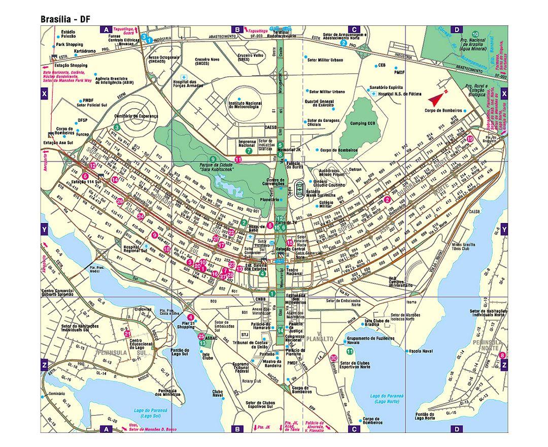 Maps of Brasilia Detailed map of Brasilia in English Tourist map