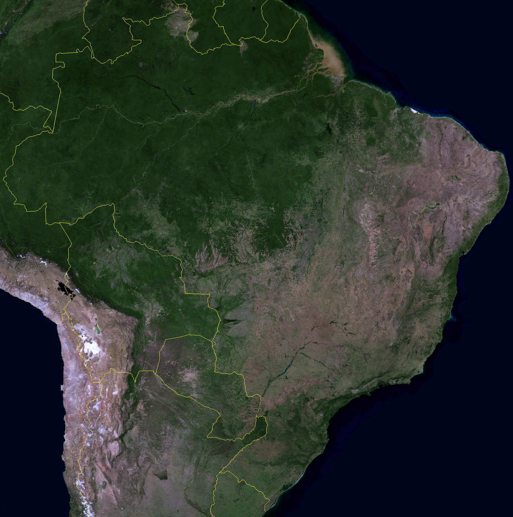 Brazil Map And Satellite Image Brazil Map And Satellite Image - Google earth map via satellite