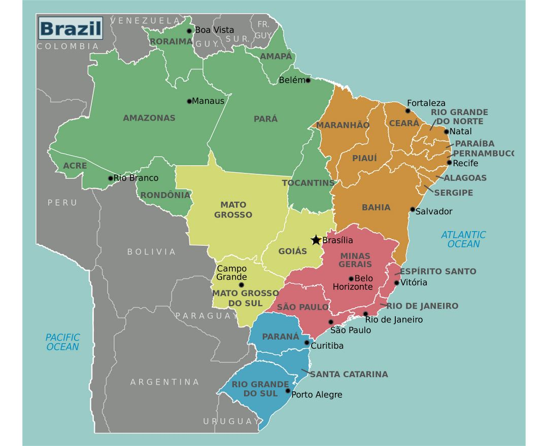 Maps Of Brazil Detailed Map Of Brazil In English Tourist Map - Map of brazil
