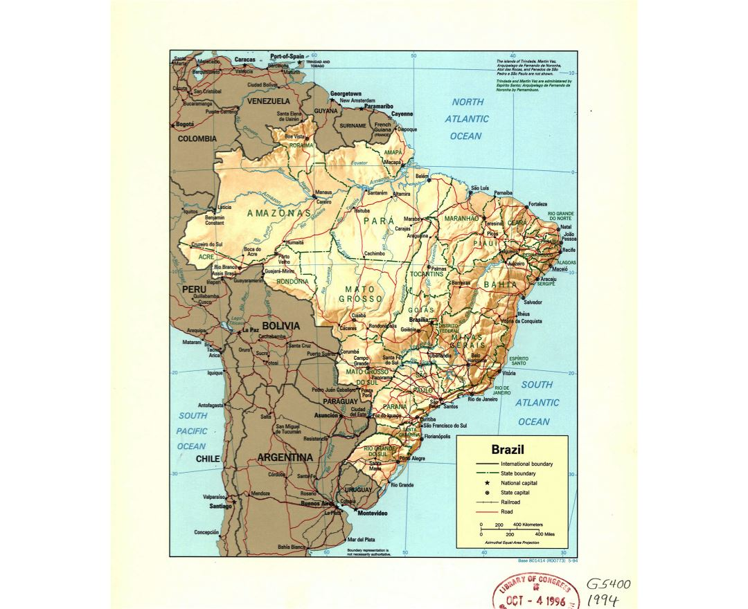 Maps of Brazil | Collection of maps of Brazil | South America ...