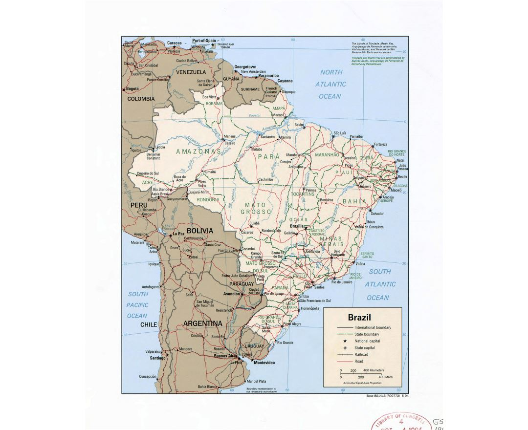 Maps of Brazil | Detailed map of Brazil in English | Tourist map ...