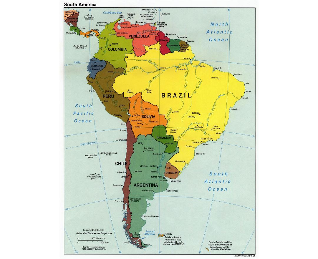 Maps Of Brazil Detailed Map Of Brazil In English Tourist Map - Brazil political map