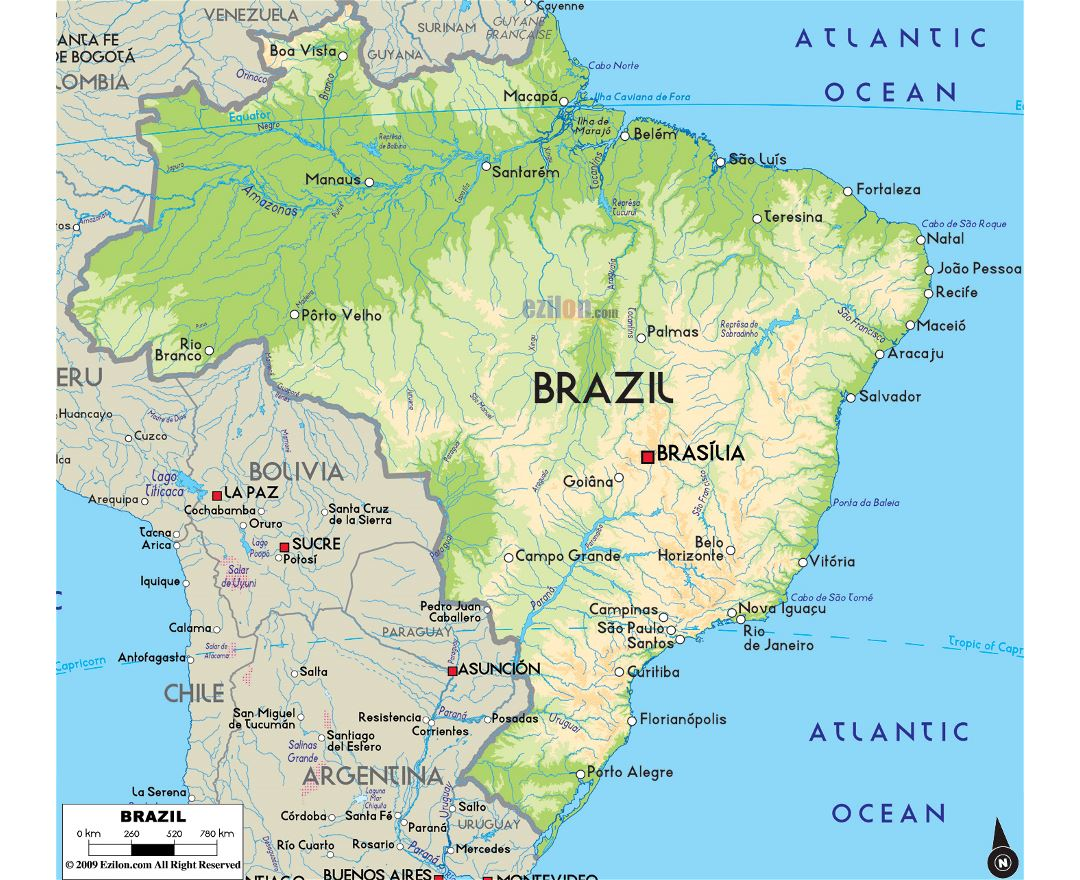 Maps Of Brazil Detailed Map Of Brazil In English Tourist Map - Physical map of argentina