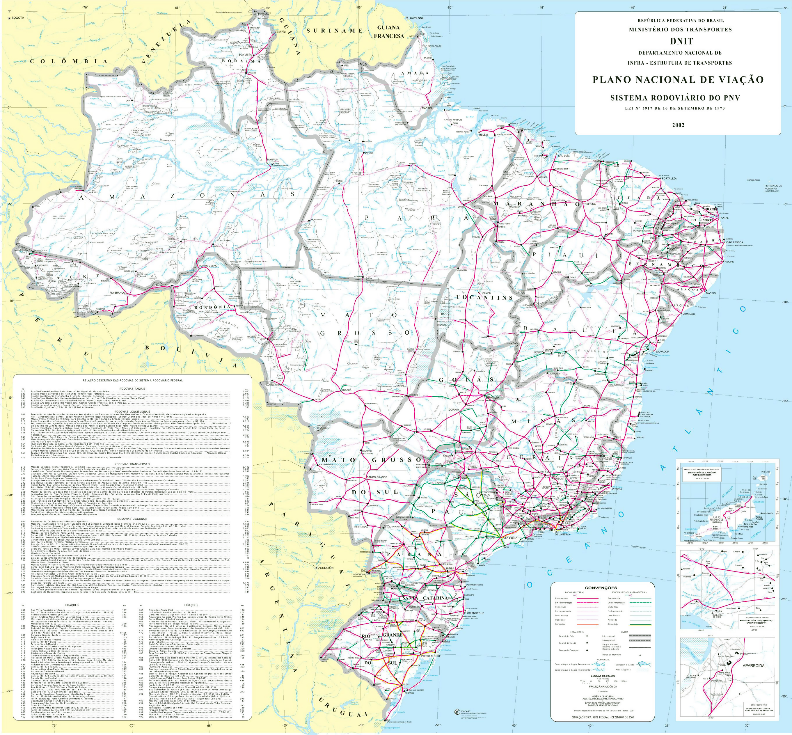 Large political and administrative map of Brazil with roads and ...