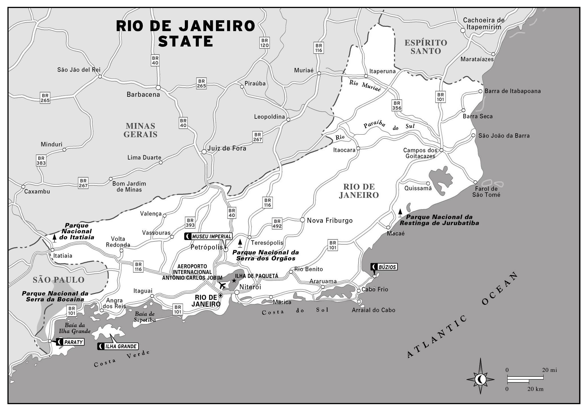 Large detailed map of Rio de Janeiro state | Rio de Janeiro | Brazil ...