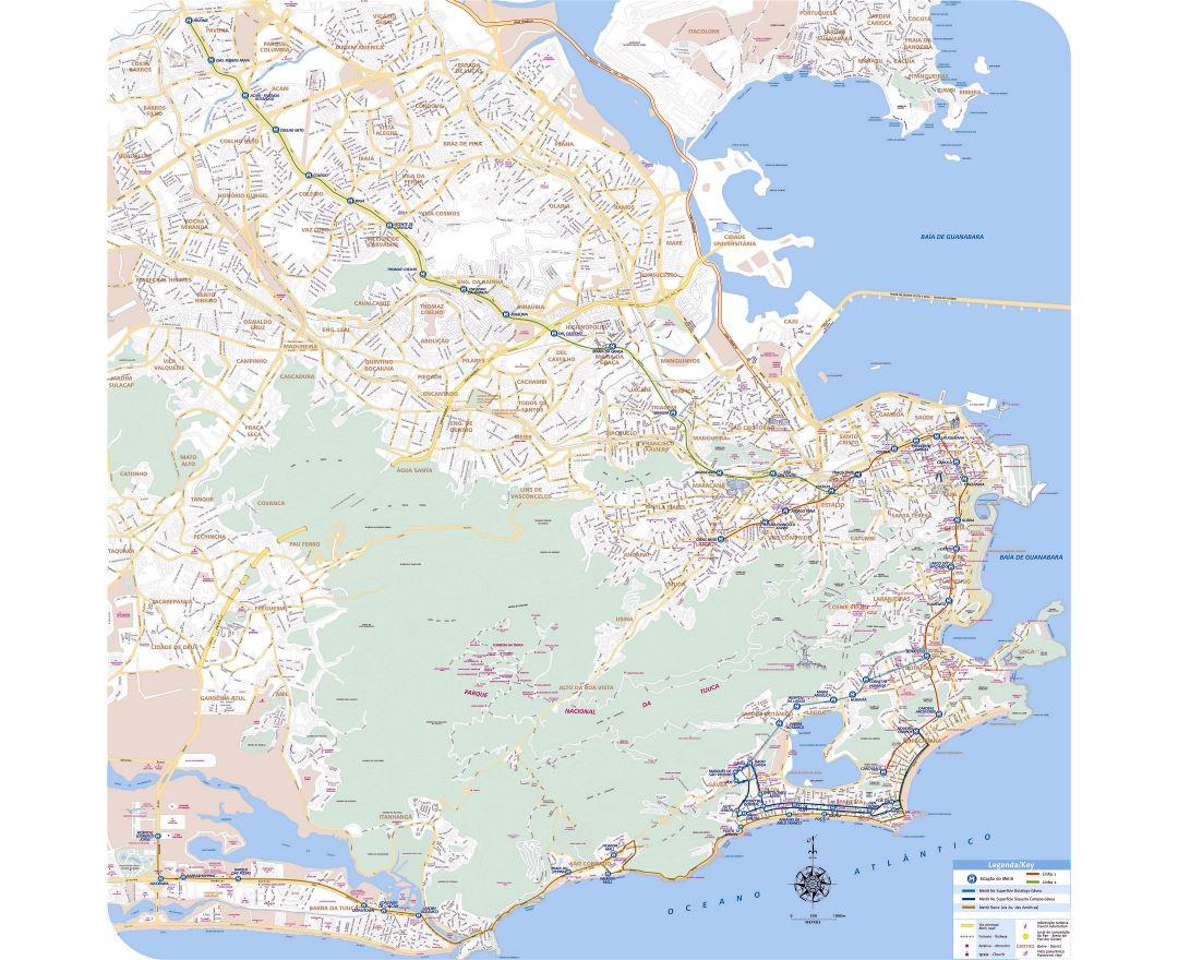 Maps of Rio de Janeiro Detailed map of Rio de Janeiro in English
