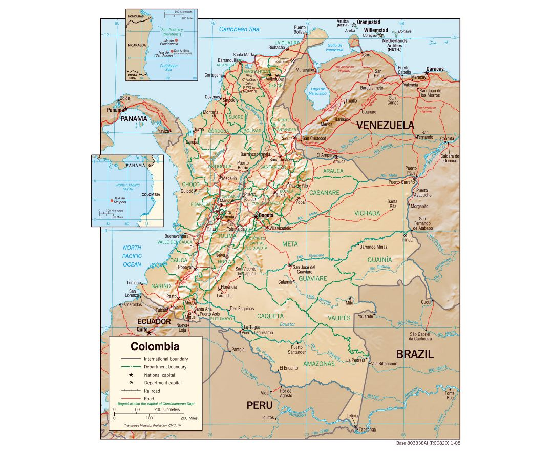Maps of Colombia Detailed map of Colombia in English Tourist map