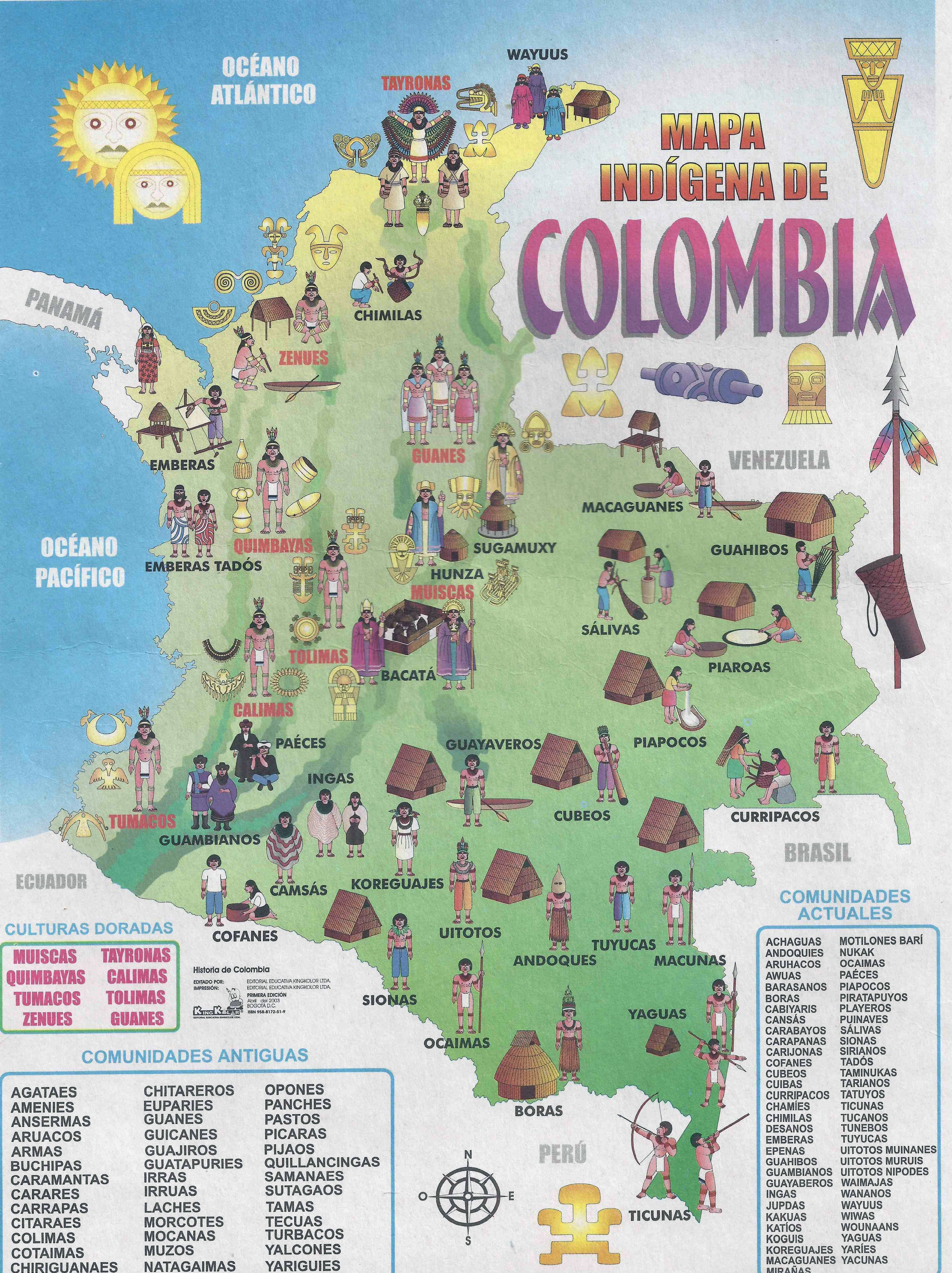 Large detailed tourist illustrated map of Colombia ... on illustrated wedding map, illustrated beach map, illustrated island map,