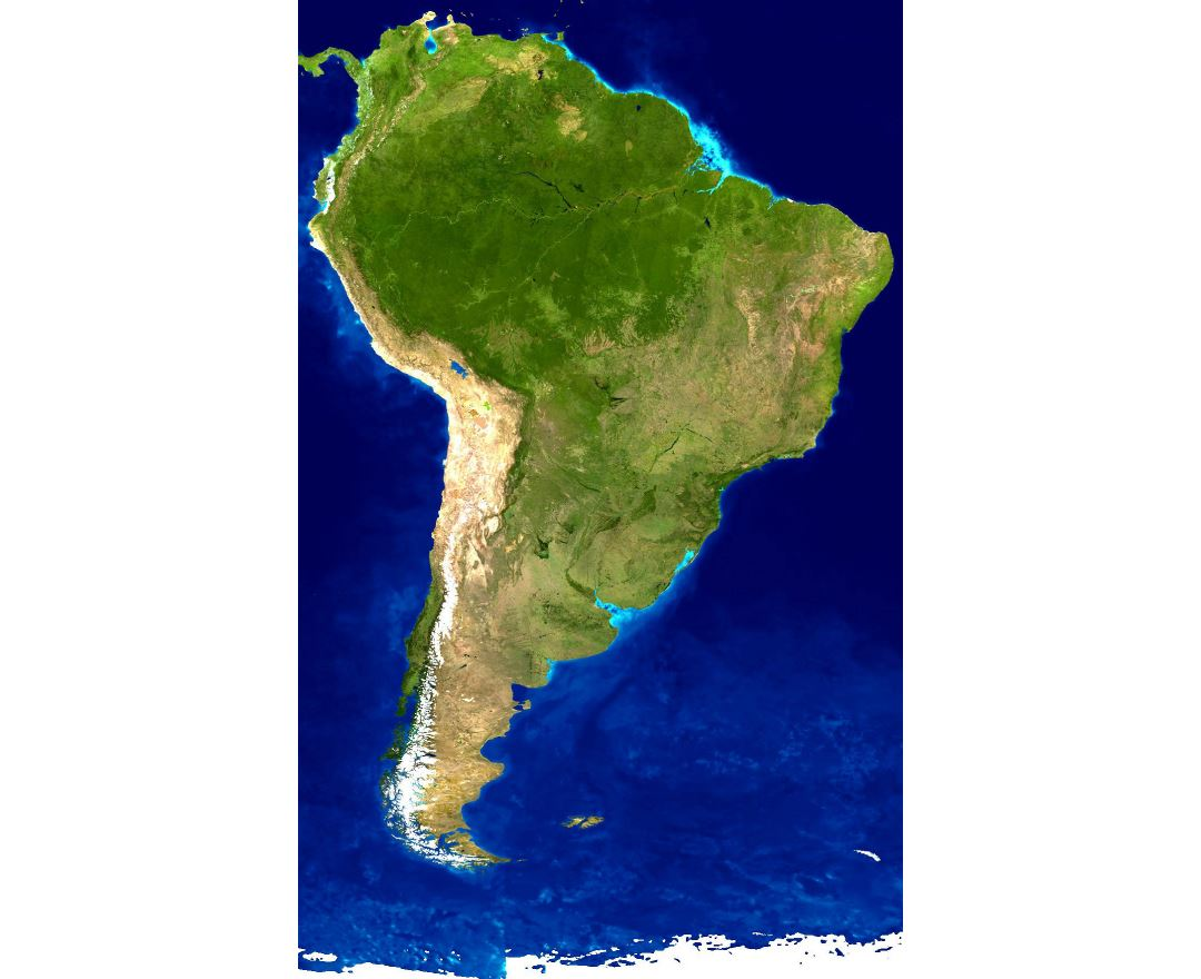 Maps Of South America And South American Countries Political - South american population map