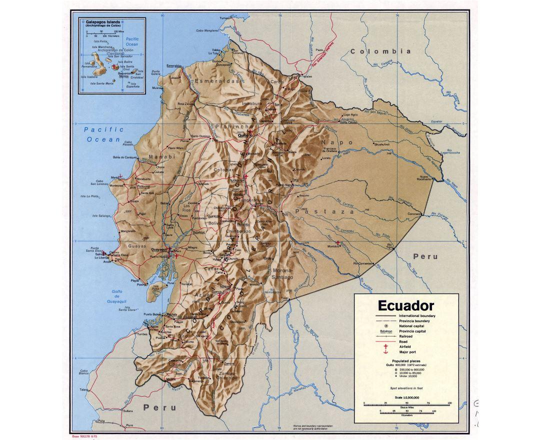 Maps Of Ecuador Collection Of Maps Of Ecuador South America