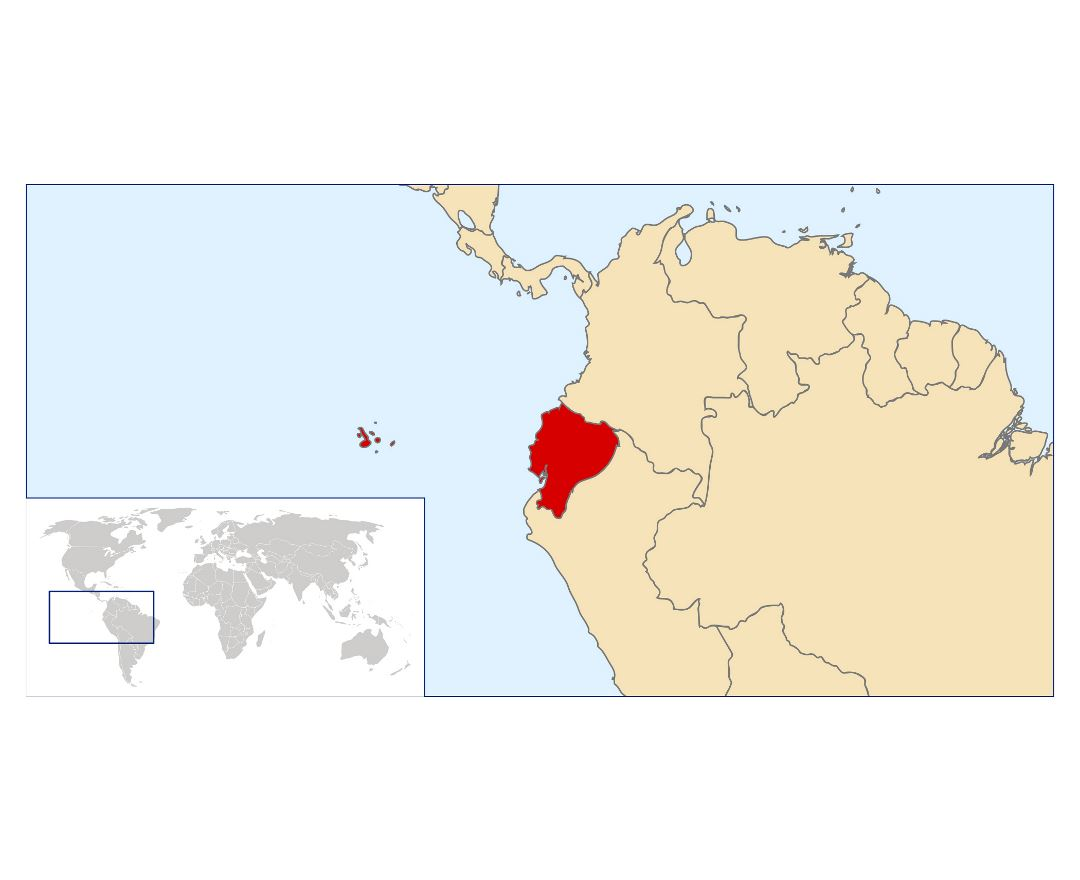 Large location map of Ecuador