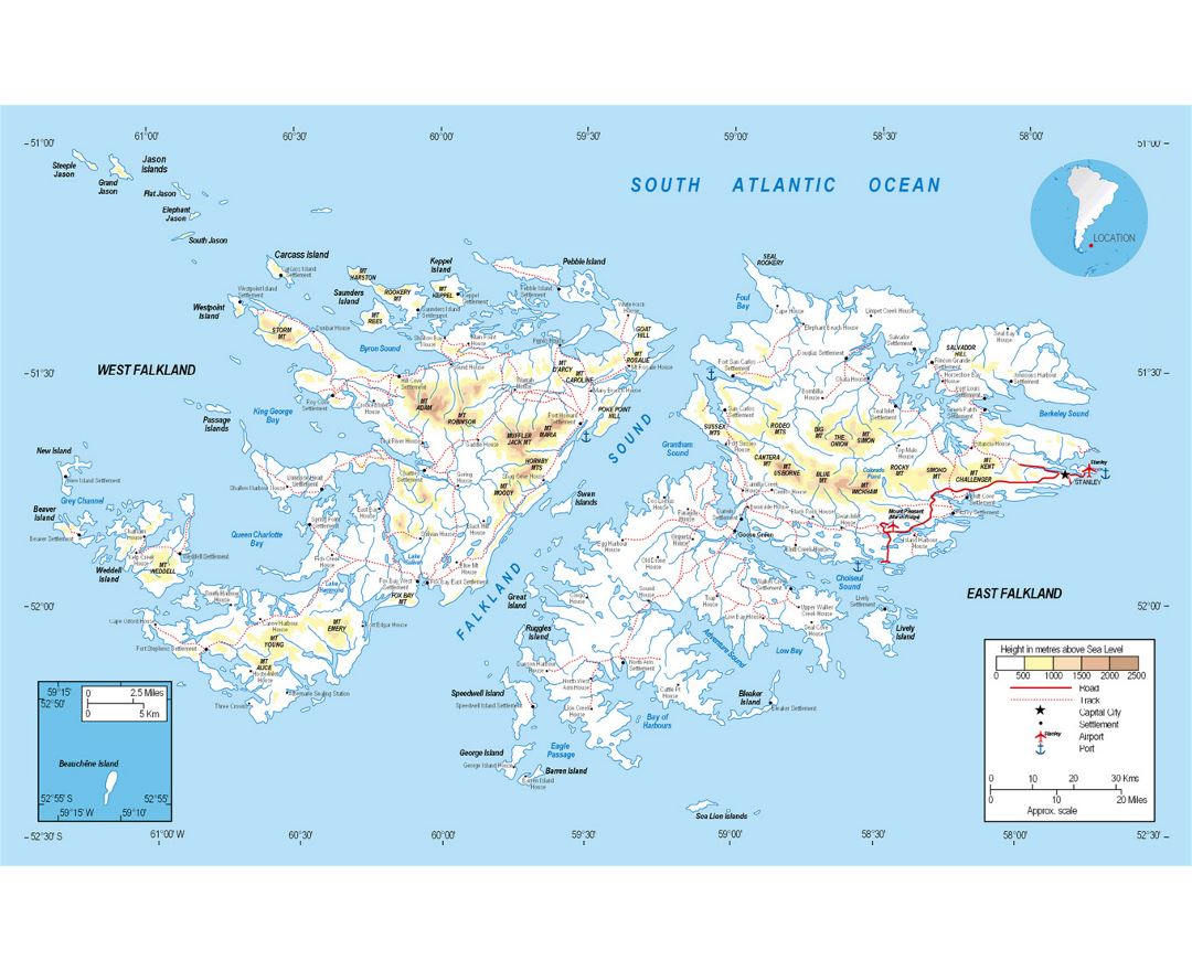Maps Of Falkland Islands Collection Of Maps Of Falkland