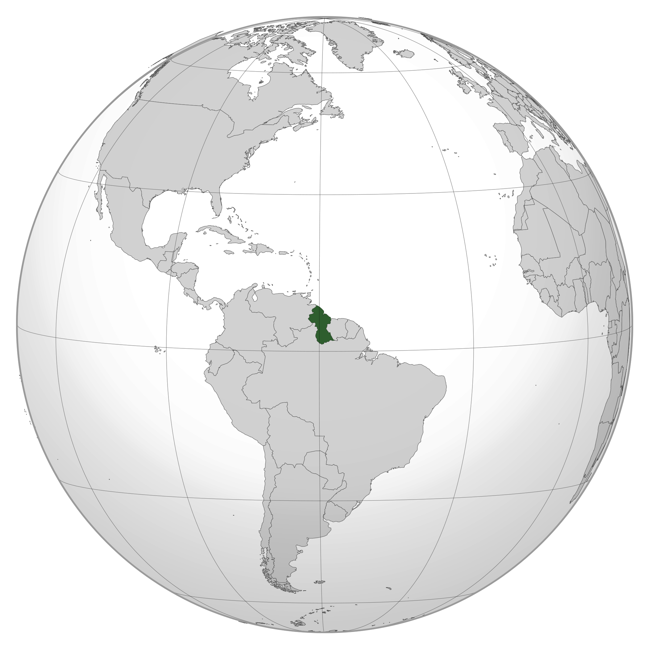 Where Is Guyana Located On The World Map.Large Location Map Of Guyana Guyana South America Mapsland