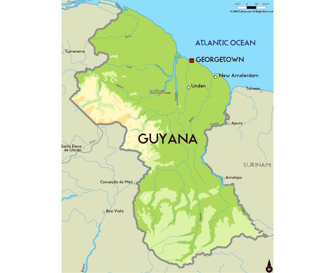 Maps of Guyana | Collection of maps of Guyana | South America ...