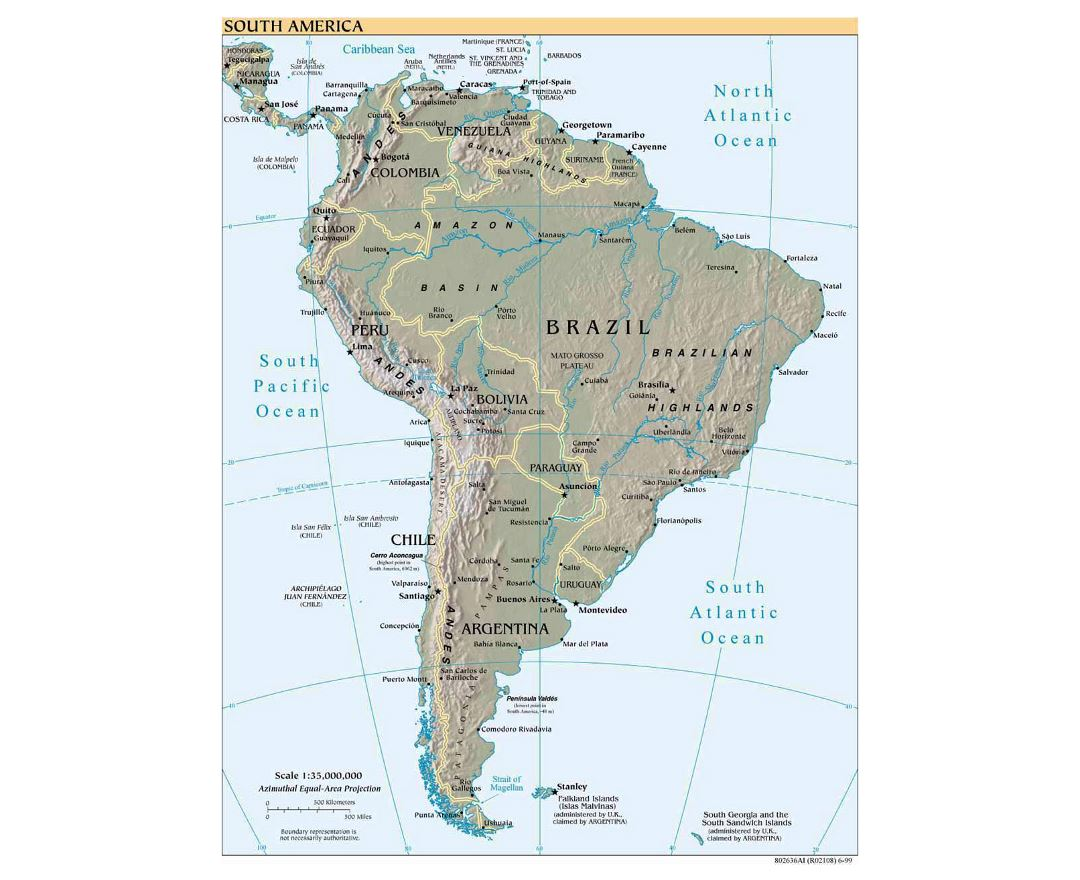 Maps Of The Americas Free Blank Map Of North And South America - South america capitals map quiz