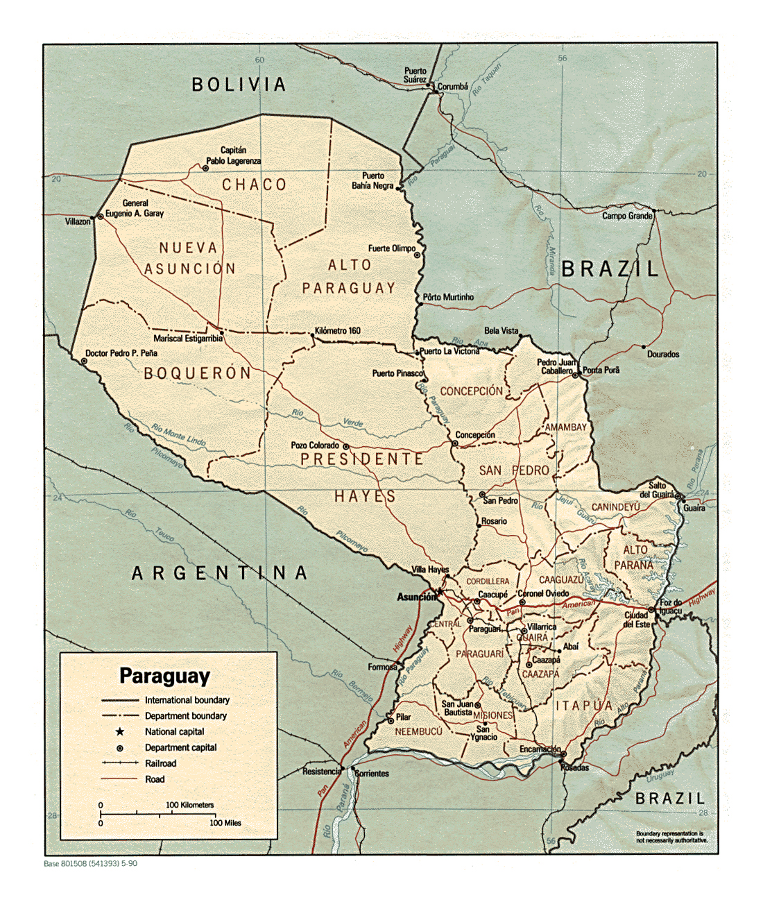 Map Of Paraguay With Roads sentry safe msw3517