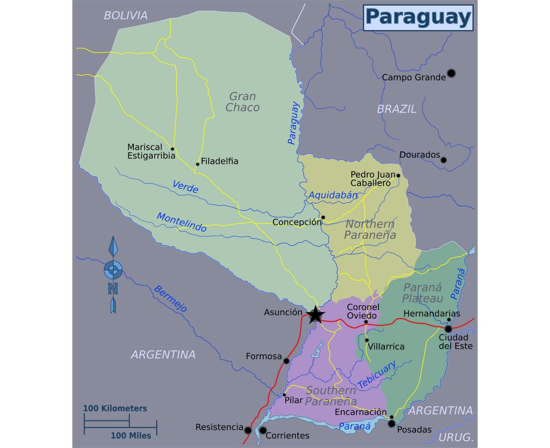 Maps of Paraguay | Detailed map of Paraguay in English | Tourist map ...