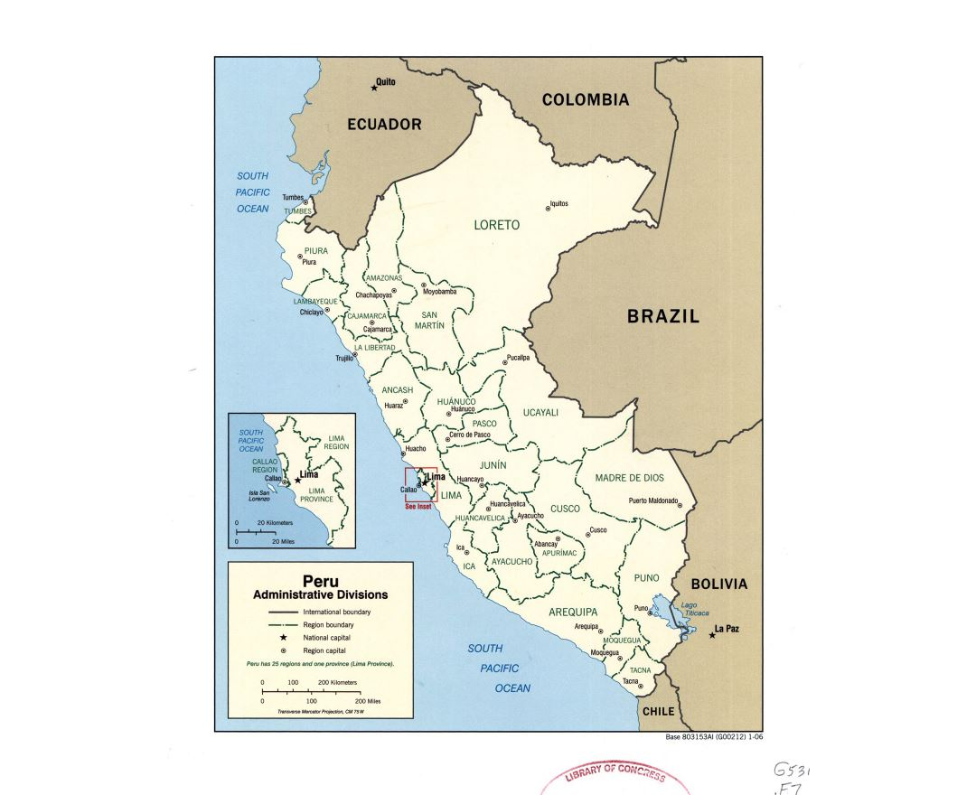Maps of Peru | Collection of maps of Peru | South America | Mapsland Cities Map Of Peru on