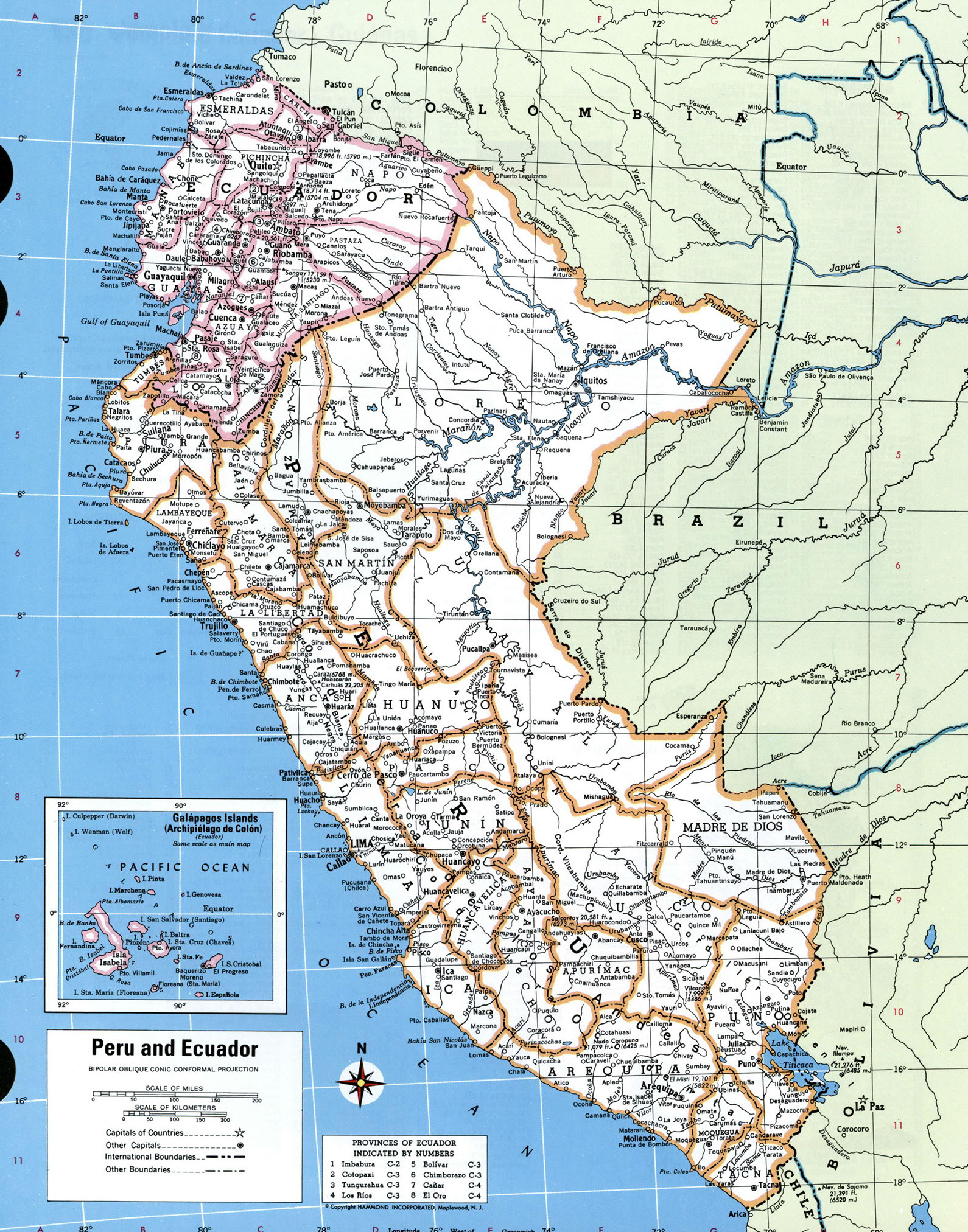 Large Detailed Political And Administrative Map Of Peru With All