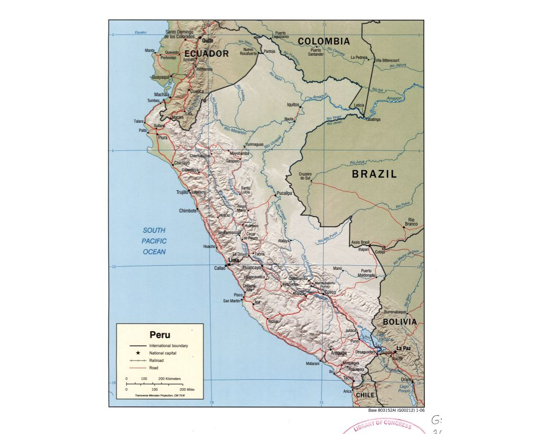 Maps Of Peru Collection Of Maps Of Peru South America Mapsland