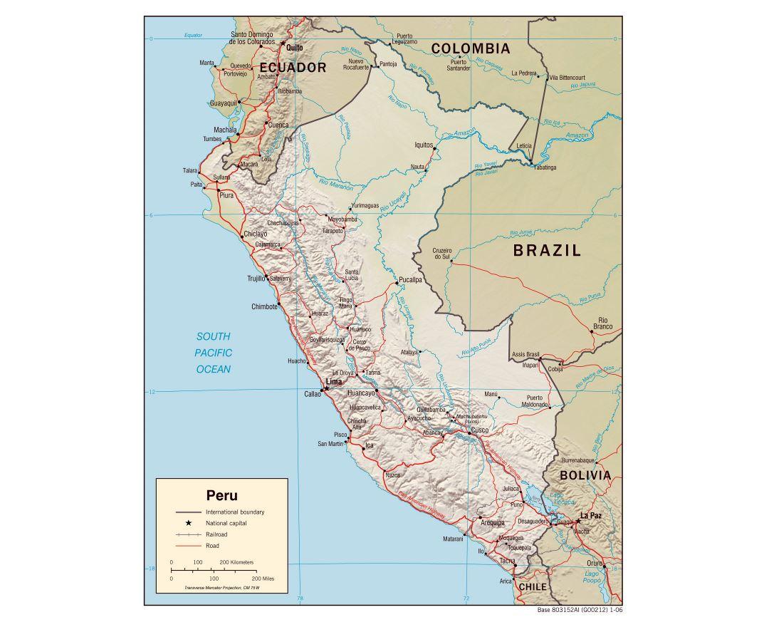 Maps of Peru Detailed map of Peru in English Tourist map travel