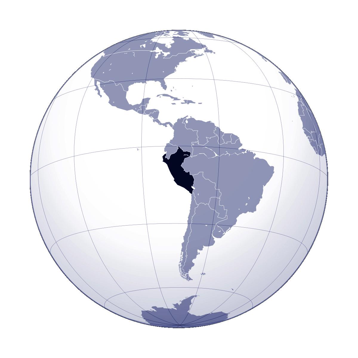 Large location map of Peru | Peru | South America | Mapsland | Maps ...