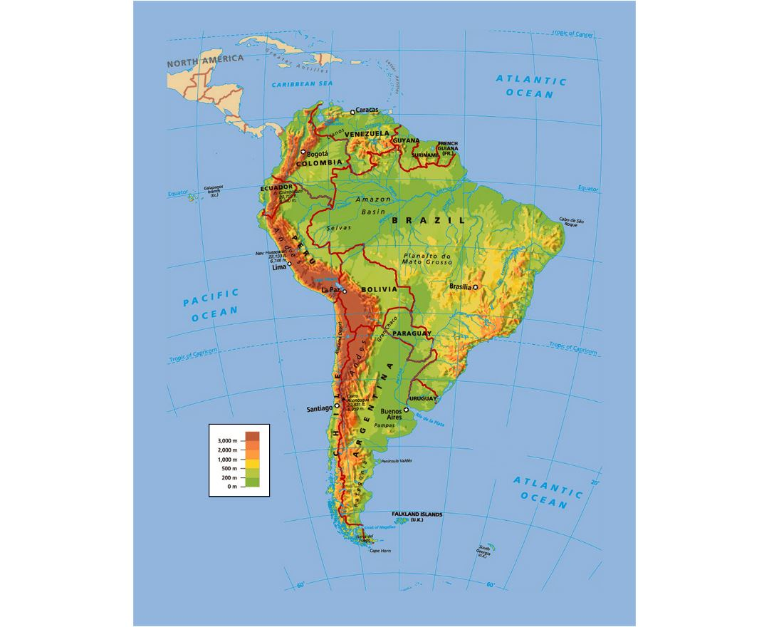 America South America Map.Maps Of South America And South American Countries Collection Of