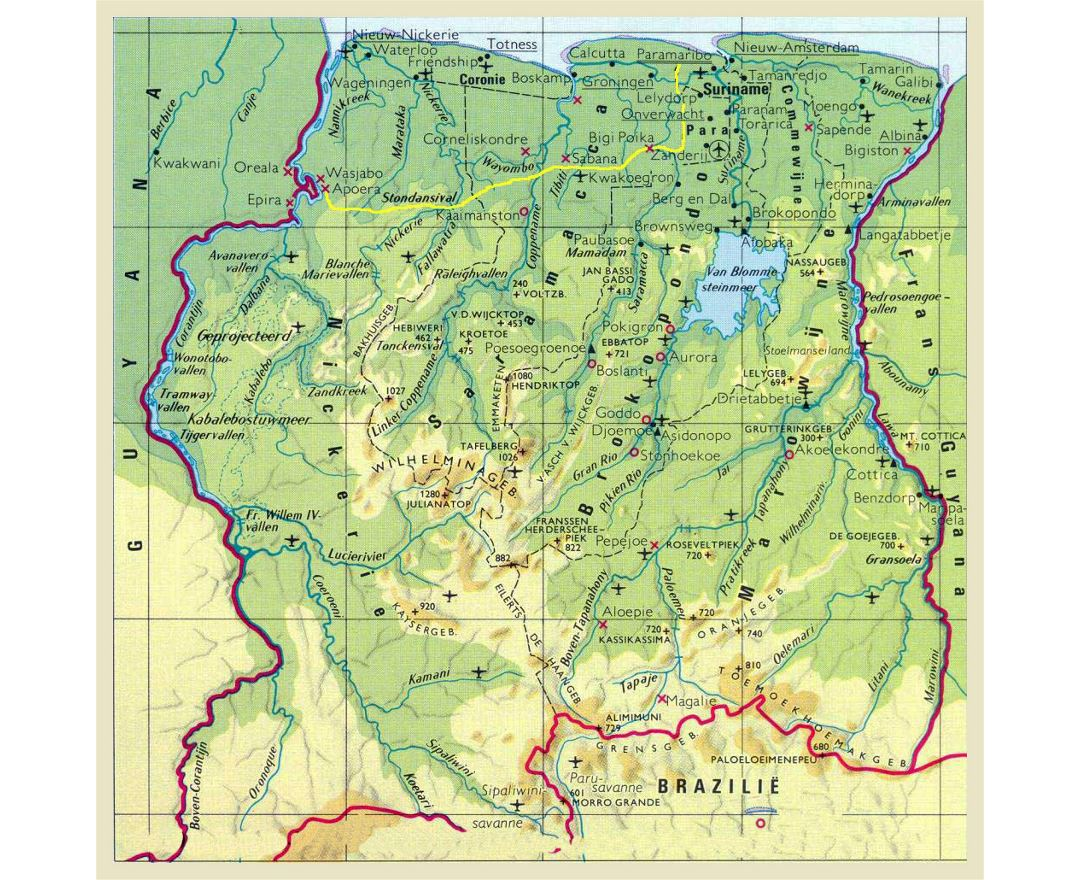 Maps Of Suriname Detailed Map Of Suriname In English Tourist - paramaribo map
