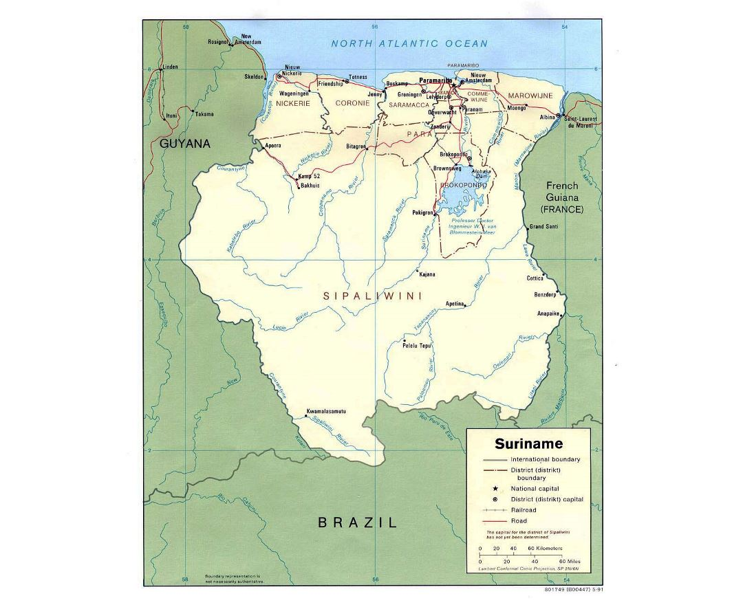 French Guiana Road Map medusa clipart