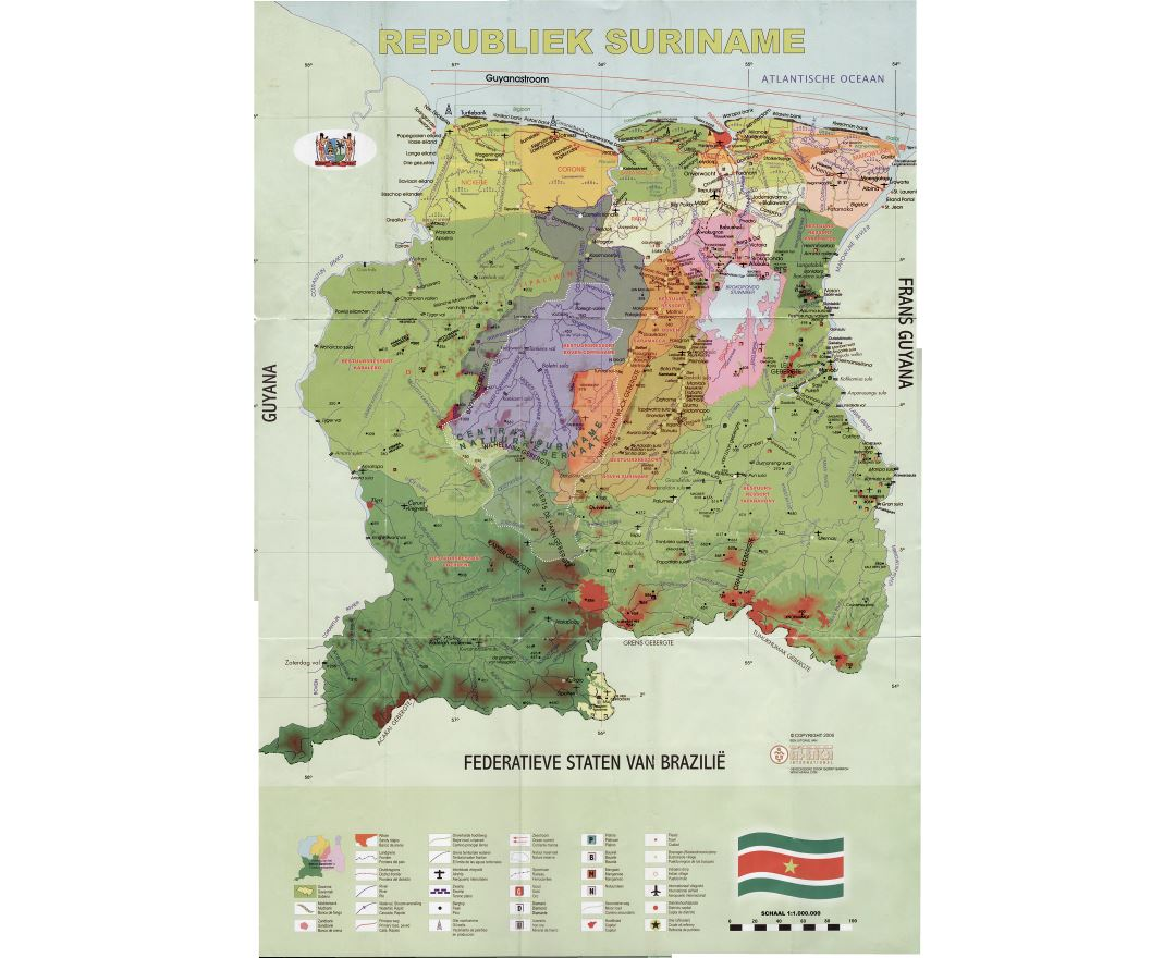 Surinam World Map.Maps Of Suriname Collection Of Maps Of Suriname South America
