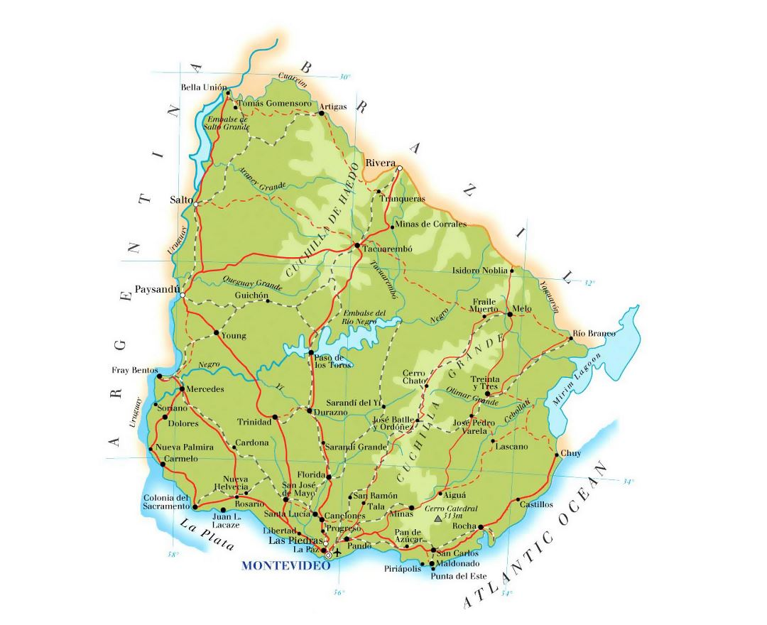 Maps Of Uruguay Detailed Map Of Uruguay In English Tourist Map - Detailed map of pa