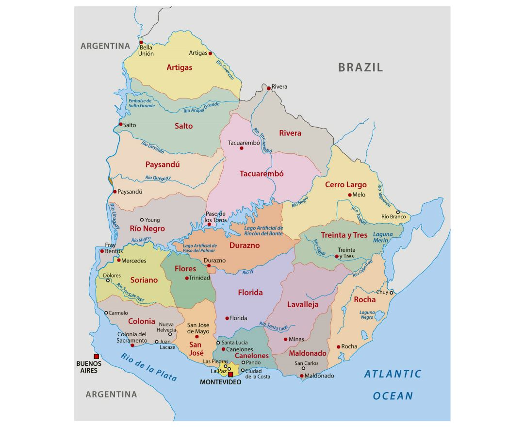 Maps Of Uruguay Detailed Map Of Uruguay In English Tourist Map - Argentina map detailed