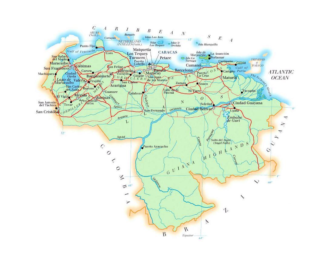 Venezuela Topographic Map.Maps Of Venezuela Collection Of Maps Of Venezuela South America