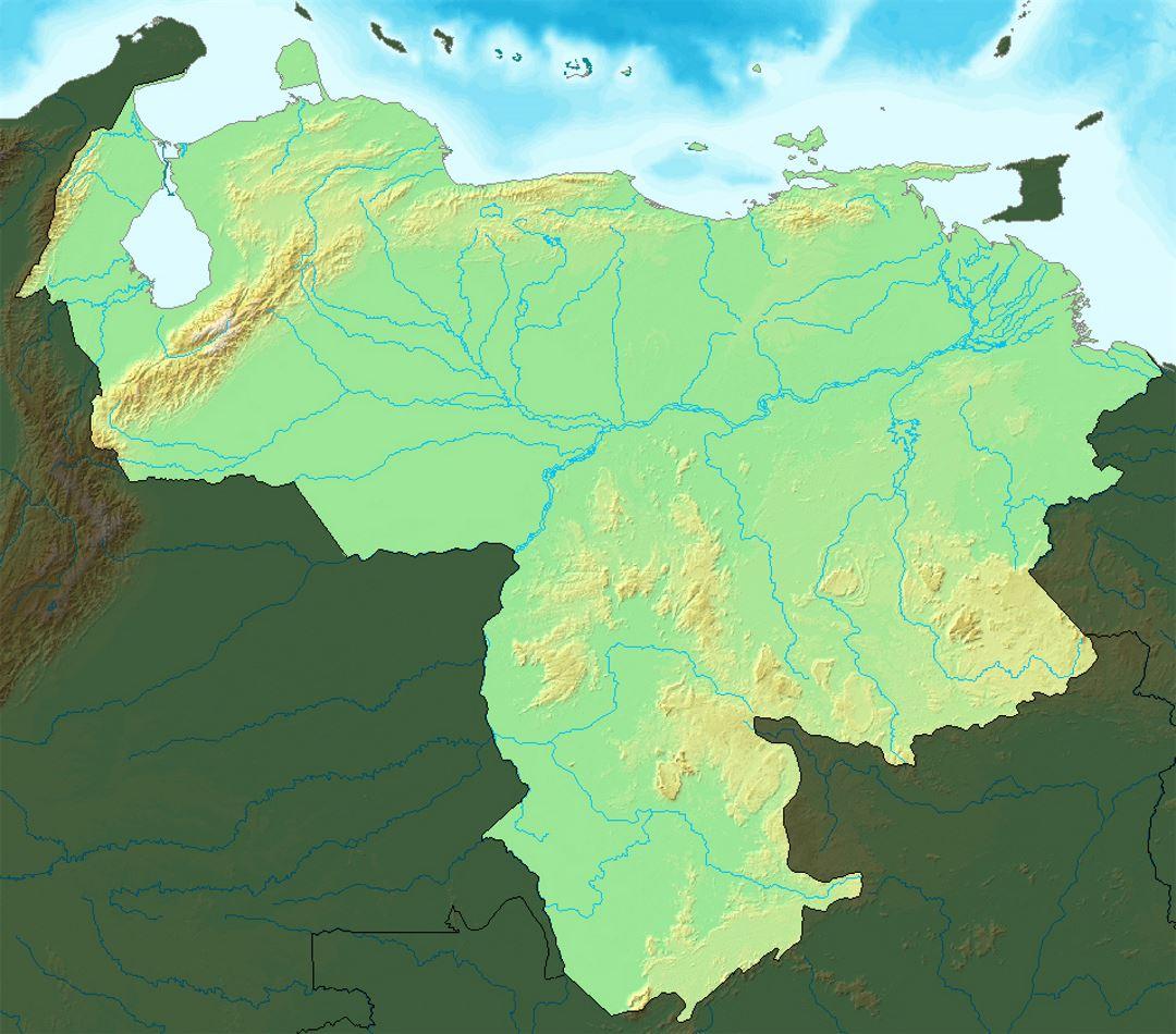 Detailed relief map of venezuela venezuela south america detailed relief map of venezuela gumiabroncs Gallery