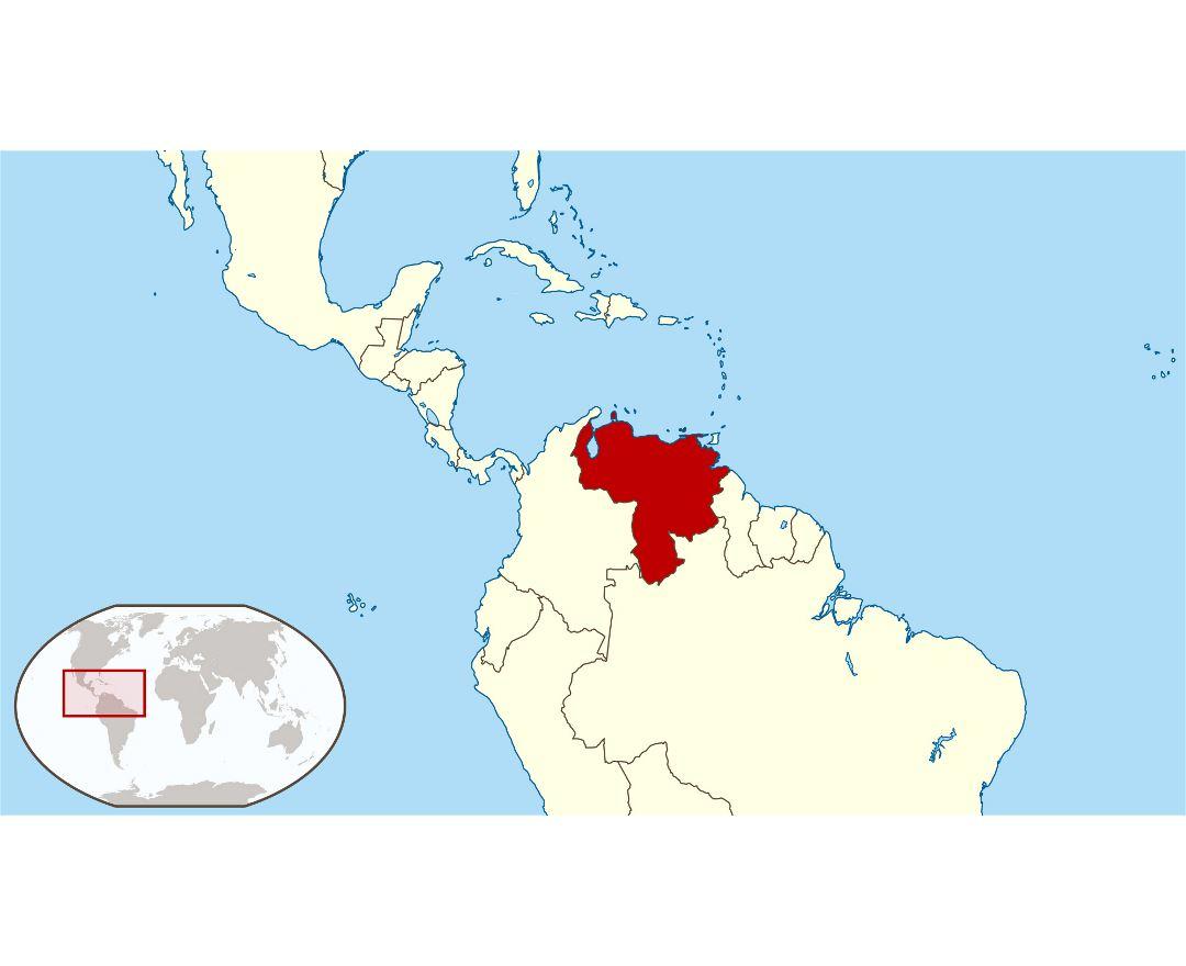 Maps Of Venezuela Detailed Map Of Venezuela In English Tourist - Map of venezuela south america