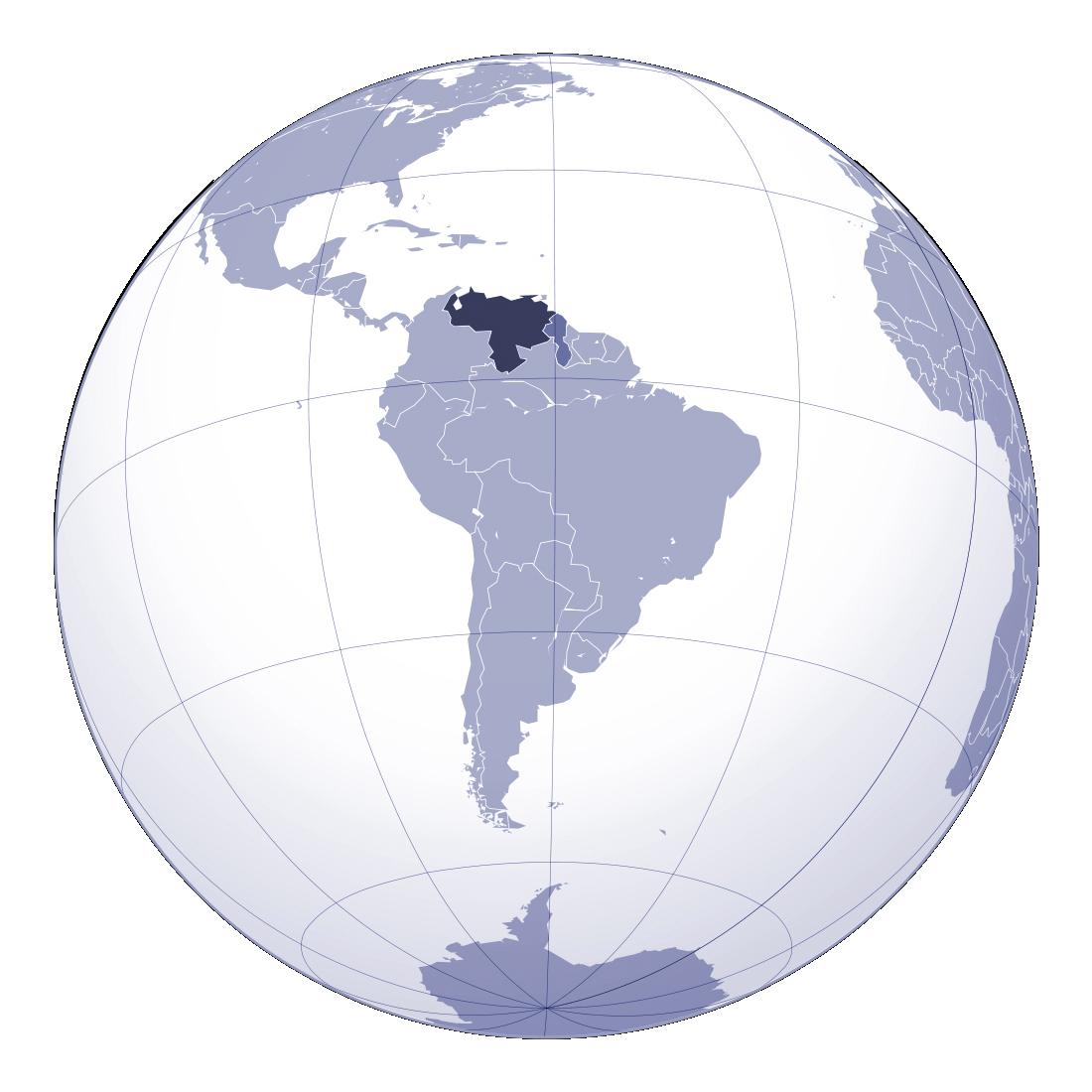 Large location map of Venezuela Venezuela South America